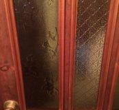 Деревянная не стандартная красивая дверь