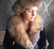 Мутоновая шуба воротник из чернобурки