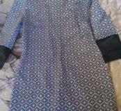 Платье стрейч. Со вставками под кожу.