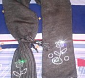 Английская шапка-шарф на зиму