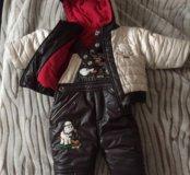 Зимний костюм 9-12м