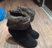 Зимние ботинки,натуральные б/у