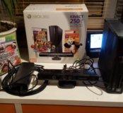Приставка Xbox 360 kinect 250Gb+ 2 игры