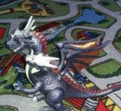 Дракон и экскаватор динозаврик