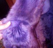 Дубленка фиолетовая длинная