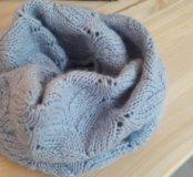 Снуд шарф, детский ручной вязки