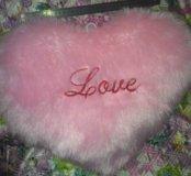 Сердце плюшевое большое