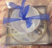 Набор кружка и тарелка  подарочный