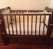 Детская кровать натуральное дерево