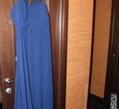 Платье на брительках в пол