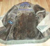 Кожаная куртка на овчином меху