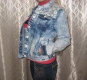 Курточка джинсовая,новая.