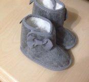 Новые пинетки для девочки (ботинки) 12 см