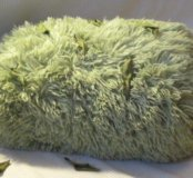 Плюшевый плед зелёный
