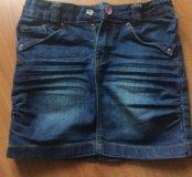 Джинсовая юбка на девочку рост 128 7-8 лет