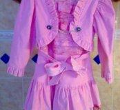 Платье вельветовое нарядное на девочку