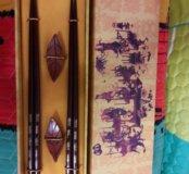 Палочки для суши и еды с подставками