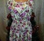 Платье цветочный принт 44-48