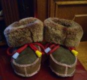 Теплые пинетки-тапочки для малыша 13 см