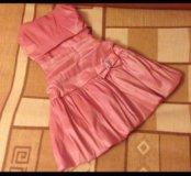 Платья.Детское розовое и темно-синее вечернее