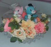 Корзина с цветами на свадьбу