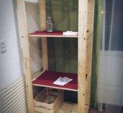 IKEA Стеллаж и ящик из дерева