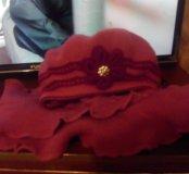Берет  с шарфом