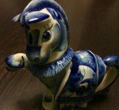 """Новый чайник """"лошадь"""" гжель"""