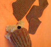 Шапка с шарфом ( комплект)