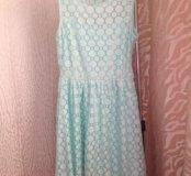 Мятное платье HM
