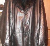 Куртка кожаная зимняя