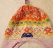 Детская шапка теплая на 5-8 лет