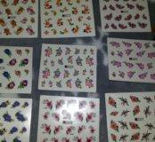 Наклейки для ногтей Цветы