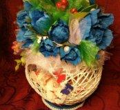 Цветы. Конфеты. Подарок любимой, Маме