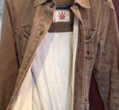 Джинсовая куртка из конопли подклад типа бамбук эк