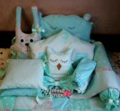 Бортики на заказ в детскую кроватку