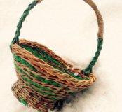 Корзинка для цветов, плетение