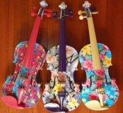 Скрипки ручной работы.