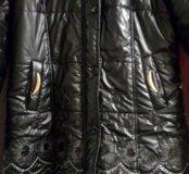 Зимняя куртка автоледи с паетками 50-52
