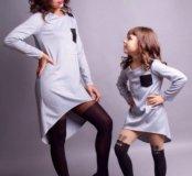 Платья-туники для мамы и дочки
