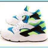 Кроссовки Nike Huarache светлые с сине-салатовым