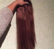 Волосы на заколках, натуральные!!!