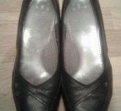 Туфли черные Ara  р.39 кожаные