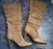 Замшевые сапожки на красивые ножки