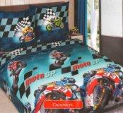 Постельное белье Мотоспорт полутороспальный