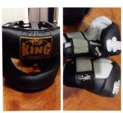 Боксёрские перчатки и шлем(торг уместен)