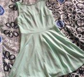 Платье бирюза ментоловое