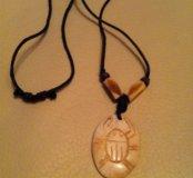 Кулон на веревке, бусы, ожерелье, амулет