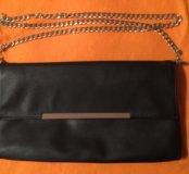 Клатч сумка новая кожаная