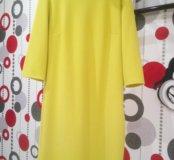 Лимонное платье по фигуре  р 42-44